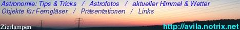 Homepage von Thomas Knoblauch: Linkkabel für TI-Rechner, Astronomie, Objekte für Ferngläser, Wetter, Elektronik, Links, Witze ......